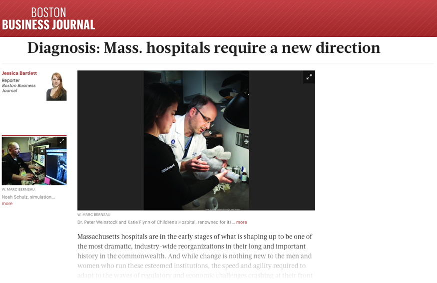 Diagnosis- Mass. Hospitals Require a New Direction